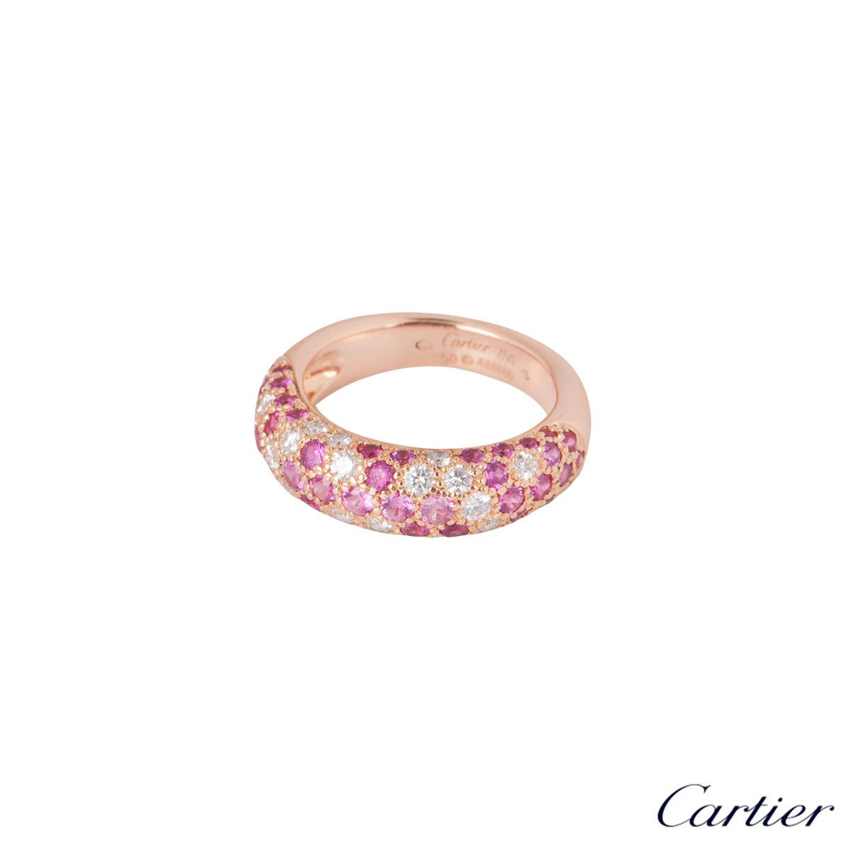 Cartier Rose Gold Diamond & Sapphire Etincelle Ring
